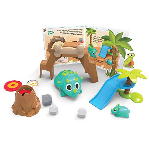 Image of the Learning Resources Coding Critters Rumble & Bumble, Toy of the Year Award Winner, Interactive STEM Coding Toy, Early Coding Toy for Kids, 23 Piece Set, Ages 4+