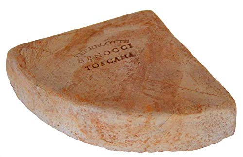 Kübelfüße/Unterlegscheiben für Blumentöpfe Pflanzgefäße anstatt Teller Frostfest Untersetzer Füße Dreieck Terrakotta dreieckig L: 7,7 cm B: 7,7 cm H: 2 cm (12, Terracotta)