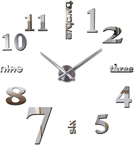 orologio moderno da parete Orologio da Parete Silenzioso Preciso Fai da Te