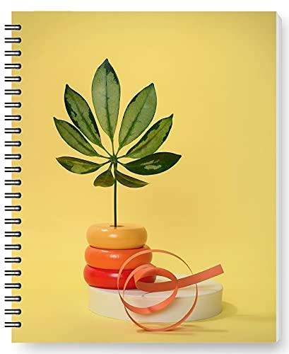 DianPrints Cuaderno de espiral A5/estudiantes y oficina, patrón de florero, cuaderno de escritura de alambre, cuaderno de notas de papelería regalos