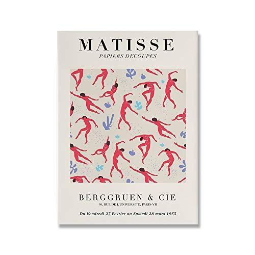 Pintura abstracta de Henry Matisse, ilustración minimalista, impresión, póster Retro, pintura en lienzo sin marco de familia beige, B 30x45cm