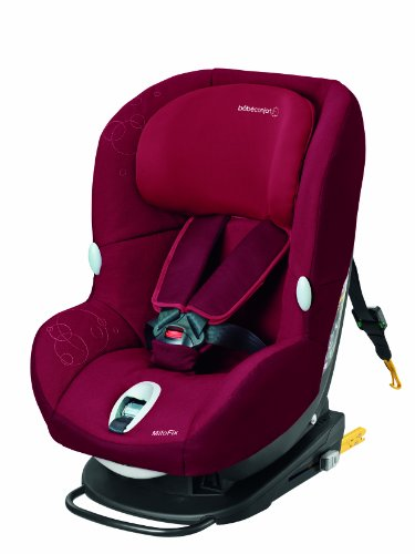 bébé confort Milofix–Auto-Kindersitz Isofix Gruppe 0+/1, 0bis 18kg, Installation rot (Raspberry Red)