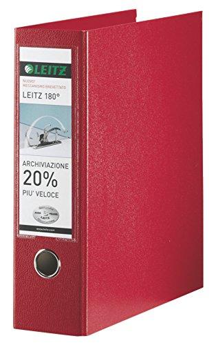 Leitz mappen met hefboommechanisme 180 ° en met mobiele telefoon, formaat commerciële doeleinden, karton gecoat polypropyleen Formato protocollo rood