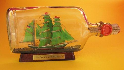 Alexander von Humboldt 375 ml Flachmann Buddelschiff ca. 21x9 cm Buddelschiff Flaschenschiff