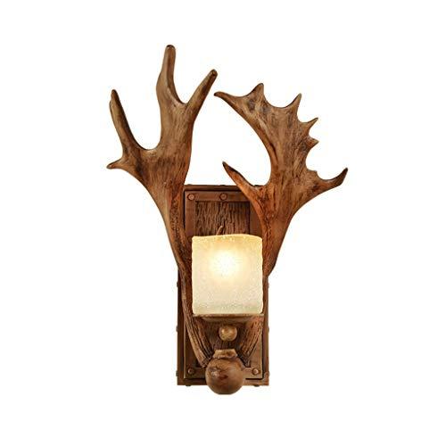 Wandlamp, LED, Nordic Retro, industriële, wind, kunsthars, decoratieve lampenkap van glas, wandlicht, slaapkamer, restaurant, wandverlichting