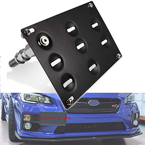 JDM Style Front Bumper Tow Hook License Plate Mounting Bracket Holder...