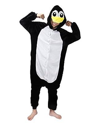 Animal Carnaval Disfraz Cosplay Pijamas Adultos Unisex Ropa De Noche (Pingüino, XL)