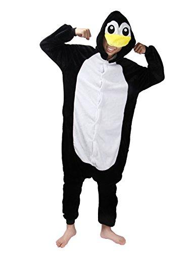 Animal Carnaval Disfraz Cosplay Pijamas Adultos Unisex Ropa De Noche (Pingüino, M)