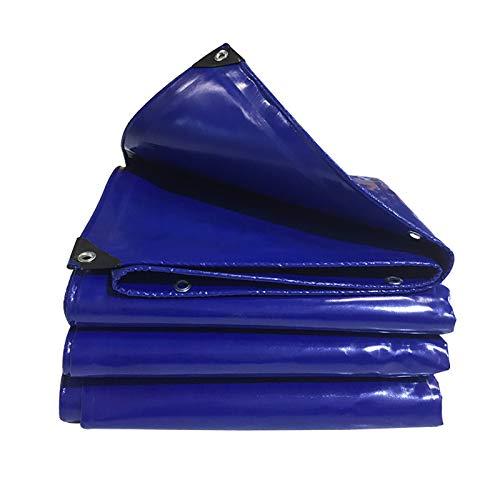 SDFGO Blau Abdeckplane PVC Schutzplane [600 G/m2] 0,5 Mm Dicke Für Gartenmöbel, Pool, Auto, Bootsplane(Size:4 * 6m)