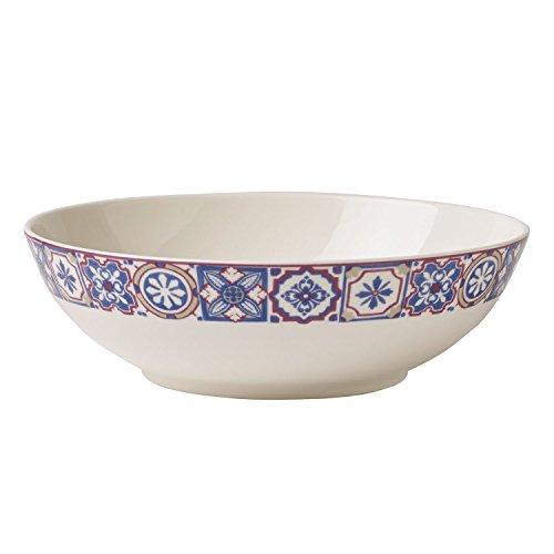 Villeroy & Boch Modern Dining Indigo Caro Bol, 1,1 l, Porcelaine Premium, Blanc/Multicolore