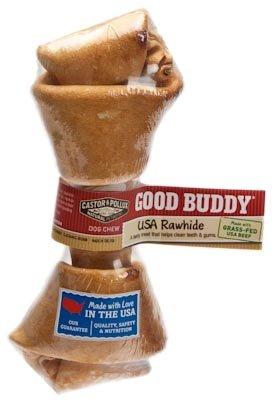 Castor & Pollux Good Buddy Made in USA Natural Chicken Flavor Rawhide Dog Bone Treats 4-5