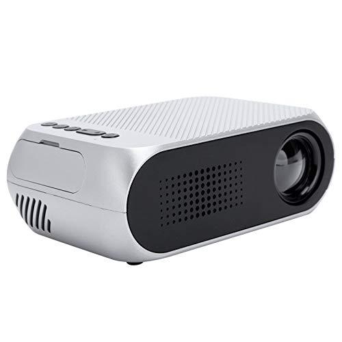 214 Proyector portátil, Mini proyector LED HD 1080P, Proyector de películas de Cine en casa, con AV/USB/Micro Tarjeta de Memoria/Interfaz HDMI, para Entretenimiento en el hogar(EU)