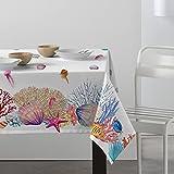 MAPUCA - Mantel Antimanchas Resinado de Teflón Estampación Digital Modelo Corales (100 x 140)