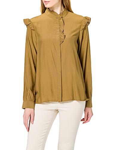 Only Onlelva LS Shirt CC Wvn Blusas, Beige, M para Mujer