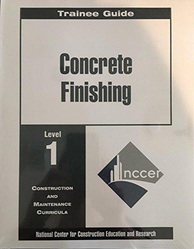 Price comparison product image Trainee Guide: Concrete Finishing