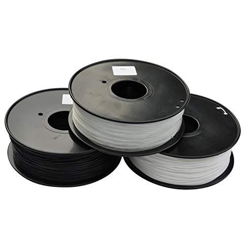 CROSYO 1pc 3D Printer Filament PA(Nylon) 1.75mm/3mm 1kg/2.2lb Plastic Consumables Material (Color : Nylon 3.0 White)
