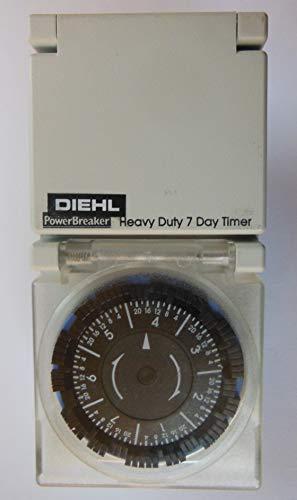 Diehl Leistungsschalter für 7 Tage Zeitschaltuhr, 240 V Wechselstrom, max. Belastung 3 kW