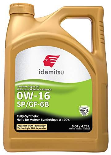 Idemitsu Full Synthetic 0W-16 Engine Oil SP/GF-6B - 5 Quart