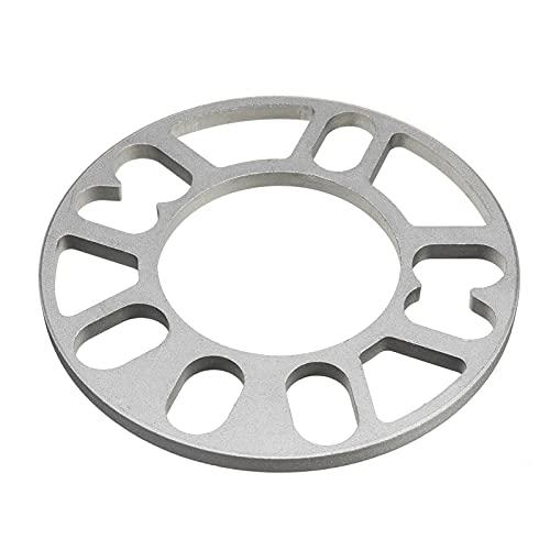 2 unids universal 3/5/8 / 10mm aleación espaciadores de rueda de aluminio placa de shims para 4/5 stud wheel 4x100 4x114.3 5x100 5x108 5x114.3 5x120 Separadores Ruedas Completos (Color : 10mm)