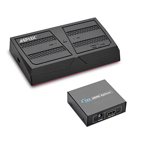 MYPIN Game Capture Boîtier d'Acquisition Video HD 1080p HDMI Enregistreur YPBPR pour Xbox 360 et One / PS3 PS4 / Nintendo Switch/Nintendo Wii U etc (Live Streaming, VG0066)