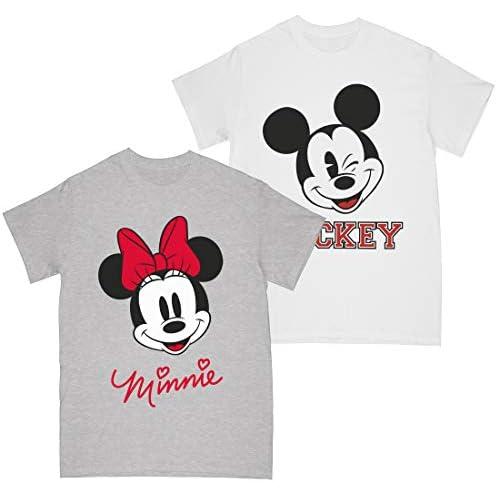 Disney Ragazze Minnie Face - Maglietta Topolino, confezione da 2 Multi 12-13 Anni