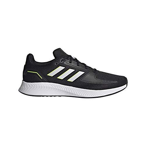 adidas RUNFALCON 2.0, Zapatillas de Running Hombre, NEGBÁS/FTWBLA/Amasol, 44 EU