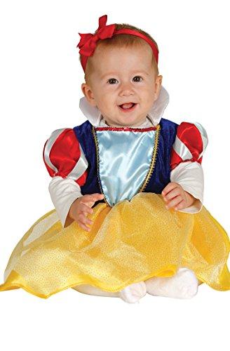 Guirca- Costume da Neonata Biancaneve 6/12 Mesi Femmina, Multicolore, Talla 6-12 Meses, 81090