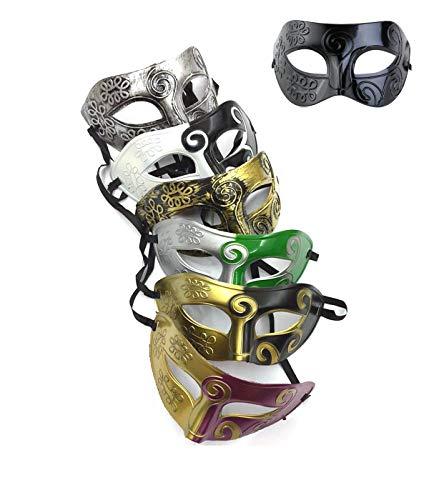 7 Pieces Unisex Retro Masquerade Mask Mardi Gras Costume Party Acccessory