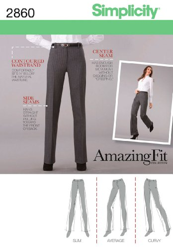 Simplicity 2860.R5 Patron de Pantalon pour Femme Taille 42/44/46/48/50