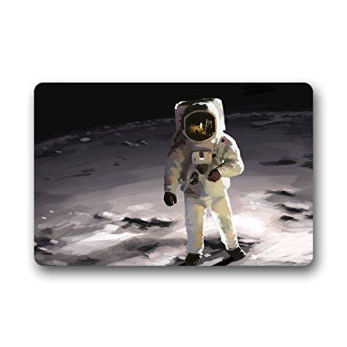 Doubee générique Astronaute Paillasson Premium Tapis Tapis Anti-Poussière Porte rectangulaire 60 cm x 40 cm, Tissu, E, 23.6\