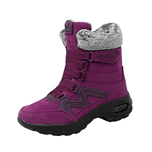 Women's Boots Lightweight Warm Snow Boots Thick High-top Cotton Boots Shoes Plus Size