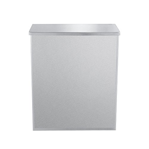 (1 Pack) Sanitary Napkin Disposal with Key and Lock - 304 Grade Heavy Duty Stainless Steel - 1.8 Gallon Capacity