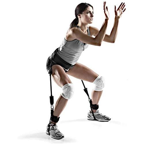 Suppemie Banda de fitness, bandas de resistencia, banda de resistencia, para piernas, cuerda para baloncesto, voleibol, fútbol, tenis, piernas, entrenamiento de movilidad