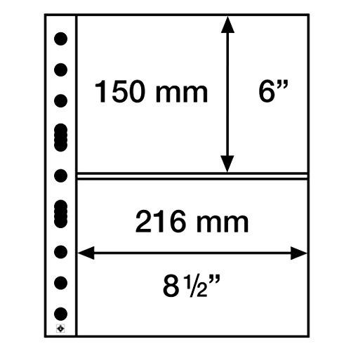 Leuchtturm Kunststoffhüllen SH 312, 2 Taschen quer (A5), PP, klar, 50er Pack