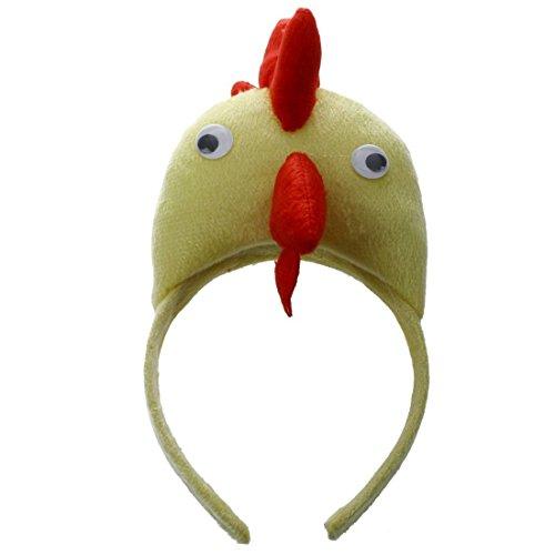 TOOGOO Banda de Cabeza de Gallo Pollo 3D Granja de Animales para ninos Adultos Baile de mascaras de Disfraz