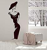 Zdklfm69 Adhesivos Pared Pegatinas de Pared Mujer Moderna Ropa de Vinilo Tienda decoración de Ventana Pintura salón hogar Dormitorio decoración 32x103cm