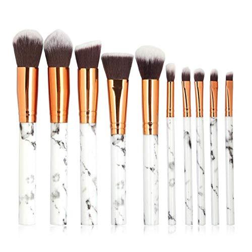 10 pcs/ensemble Marbrage Maquillage Brosse Ombre À Paupières Femmes Maquillage Brosse Fondation Brosse Contouring Brosse Maquillage Outils Ensembles-02