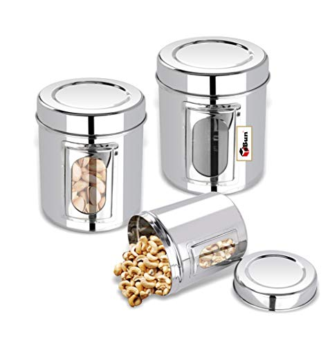 Ebun-Stainless-Steel-Container-Set-for-Kitchen-Airtight-Heavy-Gauge-Steel-Dabba-Small-Size-Set-of-3-with-See-Through-Transparent-Window