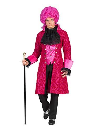 Funny Fashion Barock Kostüm Elios für Herren - Pink Gr. 48 50