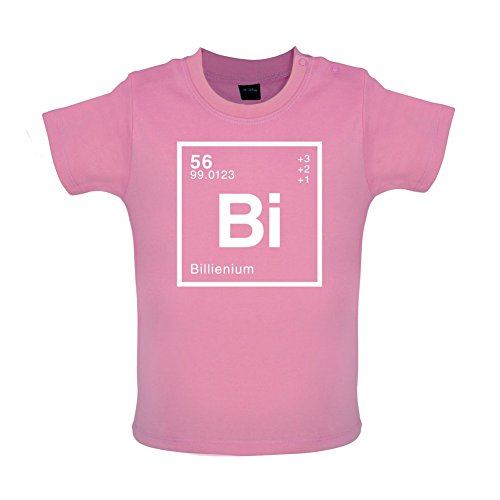 Billie - Periodic Element - Baby/Toddler T-Shirt - Bubble Gum Pink - 12-18 Months
