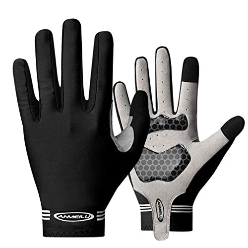 justHIGH Full Finger Bike Gloves Unisex Outdoor Touch Screen Cycling Gloves Road Mountain Bike Bicycle Gloves