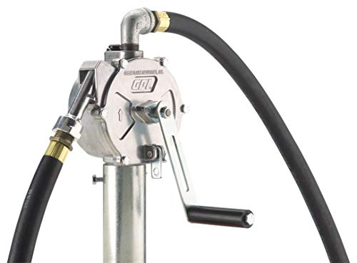 GPI 123000-06, RP-10-UL Rotary Hand Pump, Up to 10 Gal/100 Revolutions, Metal Spout, 8' Hose,...