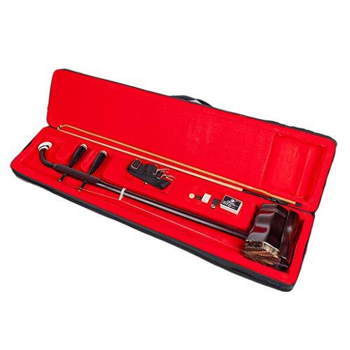 #N/A Massivholz Erhu 2-saitige Chinesische Violine Fiddle Musikinstrument, mit Bridge, Hard Case, Bow & Rosin, Hohe Qualität