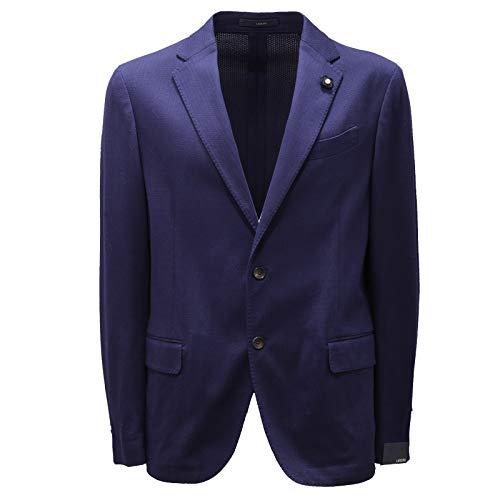 Lardini 6306AD Giacca Uomo Bluette Cotton Jacket Men [52]