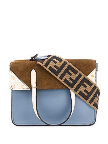 Luxury Fashion | Fendi Dames 8BT306A6CGF19PW Blauw Leer Handtassen | Lente-zomer 20