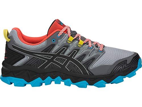 ASICS Men's Gel-Fujitrabuco 7 Trail Running Shoes, 10M, Stone Grey/Black