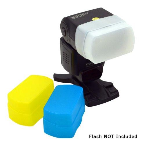 MaximalPower flits-diffuser voor Canon 580EX/580EXII, wit/zwart/geel