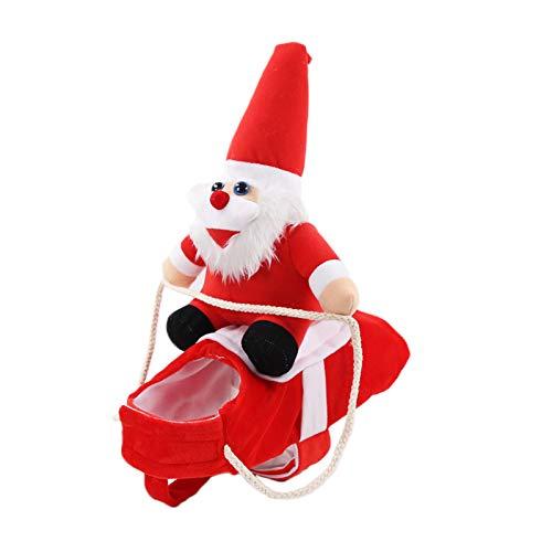 Bodhi2000 Vestiti per animali domestici, cappotto, vestiti per cani, divertenti e caldi, per Natale, Babbo Natale, per cani, gatti, travestimenti, colore: rosso