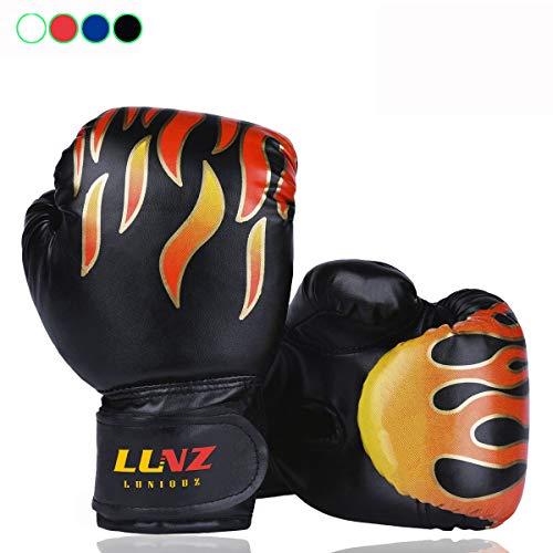 Luniquz Gants de Boxe Enfant 3-10 Ans en Cuir Gant d'Entraînement de Boxe pour MMA Muay Thai...