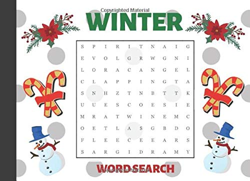Winter Word Search: Large Print Puzzle Book for holiday season